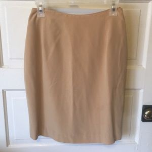 Vintage GUC 100% silk Mark Eisen khaki skirt